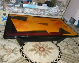 Fantastic Signed Coffee Table..next photo shows signature..anyone recognize it??
