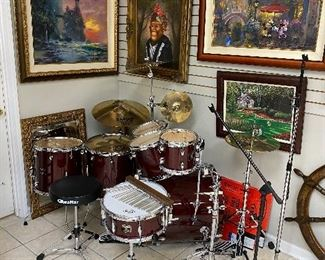 Gretsch Catalina Maple 7 pc drum kit w/stands and cymbals