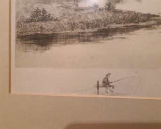 Etching signature art sketch