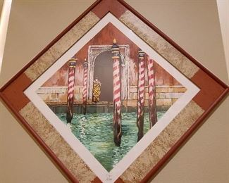 French artist Venice scene authenticated