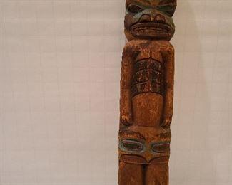 "Lot 2 Tlinglit Cedar Shaman 15"" 1900 to 1910"