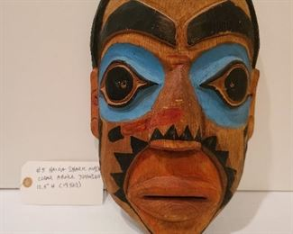 "Lot 5 Haida Shark Mask Abner Johnson 12.5 "" high 1950s"