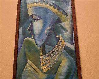 MCM painting Blue Woman no signature