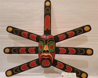 Lot 1 Haida The Sun signed Kurtis Antone N Vancouver Squamish nation 24 x 30 1980s