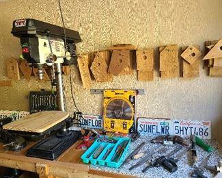 tools including Jet drill press