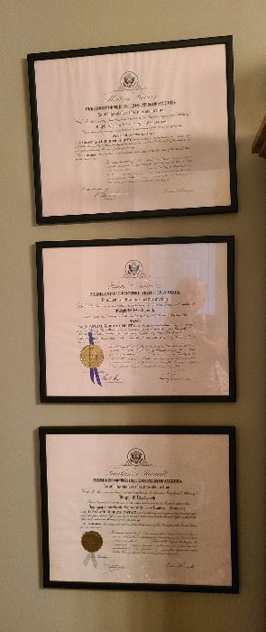 Collector Ralph Woodworth Presidential Citations