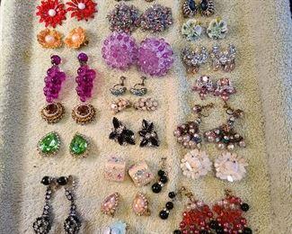 Glitzy earrings