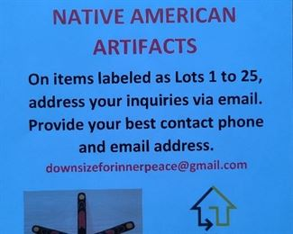 Premiere Native American Artifacts Collection Information