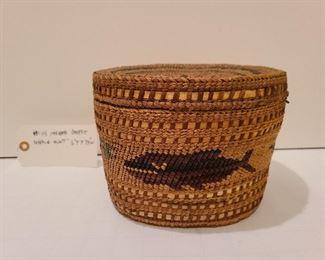"Lot 14 Makah Basket the whale hunt detail 6"" x 7.5"""
