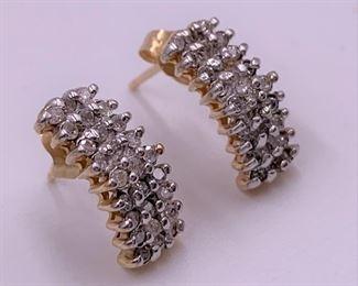 14K and Diamond earrings