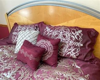 King bed and new comforter/pillow set
