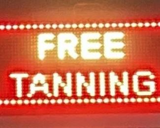 """Signtronix Wireless LED Sign Model LED-40-3 SX, 40.5"""" x 14 1/8"""" x 3.5"""", Weight 23 Lbs Bidder, Powers On, Bidder Responsible For Proper Removal, Hanging Inside Salon Window"""