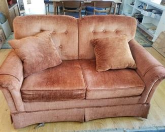 Rust Love Seat