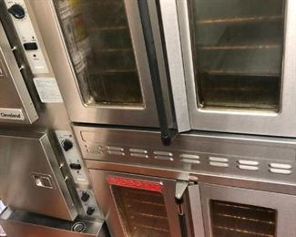 Double stack convection ovens Manufactured November 2017, used for less than 2 years. Blodgett model SHO-100-G