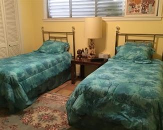Matching Brass Twin Beds