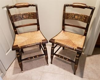 Pair of Hitchcock chairs