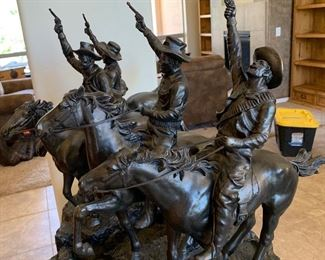 Homage to Frederic Remington Coming Through the Rye Water Fountain	60x31x31in	HxWxD