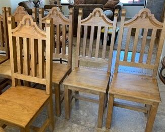 Mexican Rustic Dining Room Table w/ 8 Chairs	Table: 31x40x85in chairs: 47x18x19in	HxWxD