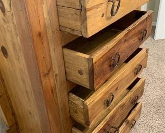 Mexican Rustic 5 Drawer Dresser	48x36x21in	HxWxD