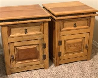 #2 2pc Mexican Rustic Nightstands PAIR	27.5x22x21in	HxWxD