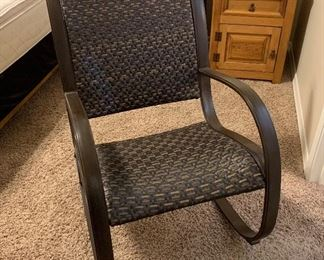 All Weather Wicker Rocking Chair	38x25x34in	HxWxD