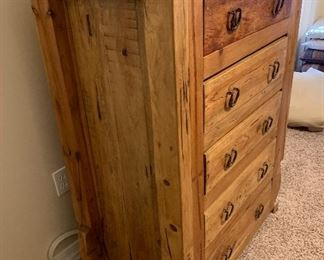 #2 Mexican Rustic 5 Drawer Dresser	48x36x21in	HxWxD