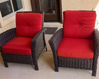 2pc All weather chairs	35x33x32in	HxWxD