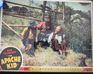 The Apache Kid Lobby Card/Poster Don Red Barry Framed	11.75 x 14.75in	HxWxD