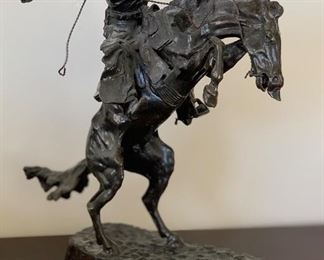 Frederic Remington Bronze Bronco Buster RBI	12x5x9.5in	HxWxD