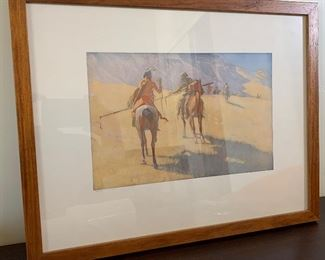 Frederic Remington The Parley Collier & Son Framed Print	15x19.5x1in	HxWxD