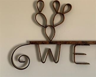 Rustic Western Wrought Iron Welcome Sign	26x38x2.5in	HxWxD