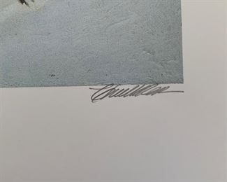 *Signed* Chuck Ren Windrider Lithograph Wind Rider Limited Edition 1550/1700	28.25x20.5in	HxWxD