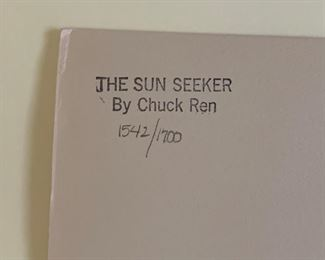 *Signed* Chuck Ren The Sun Seeker Lithograph Limited Edition 1542/1700	27.5x20.25in	HxWxD