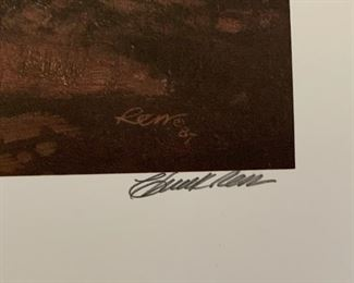 *Signed* Chuck Ren Top Gun Lithograph Limited Edition 1544/1700	28x20.25in	HxWxD