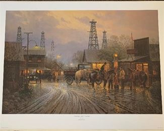 *Signed* G Harvey Saturday Night Contract Lithograph Artist Proof limited Edition 69/150 AP	33.5 x 24.5in	HxWxD