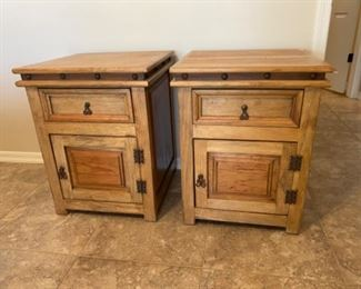 #3 2pc Mexican Rustic Nightstands PAIR	27.5x22x21in	HxWxD