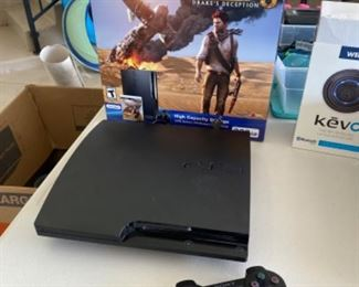Play station 3 uncharted 3 game console