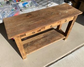 Rustic Mexico side table	48x16x30	HxWxD