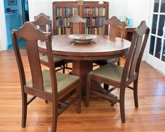 Arts and Crafts Era table and chairs