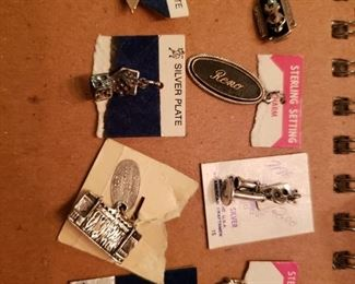 Sterling & Silverplate Charms Jewelry