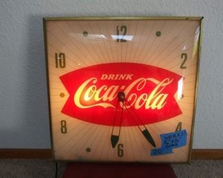 Vintage Coca Cola Clock with dome glass