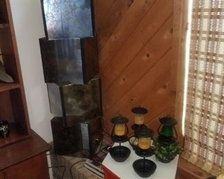 MCM stacking glass / smoked mirror  cubes