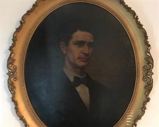 Mr. O'Connell or O'Donnell 1800's Oil on Canvas painted by artist: J. Reid.  This is one of three (3) Portraits in this same collection and of the same family.  Spectacular pieces of work!