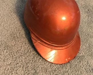 Vintage Copper-colored Cromwell Motorcycle Helmet in excellent condition.