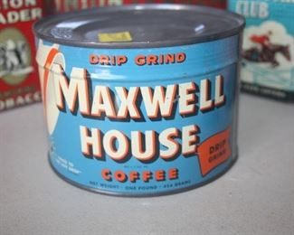 VINTAGE MAXWELL HOUSE COFFEE TIN ~ NEVER OPENED