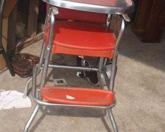 VINTAGE COSCO RED HIGH CHAIR