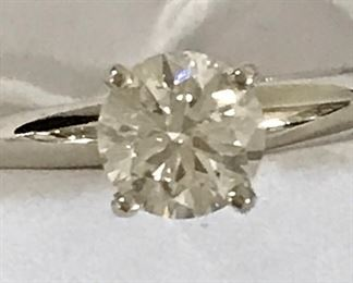 3.02 VS Cape Round Brilliant Diamond Platinum Ladies Ring $16,500 By APPOINTMENT ONLY ON THIS!