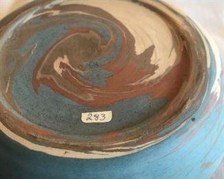 Bottom of Niloak swirl bowl