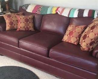 Like new Leather Sofa and Chair