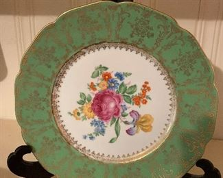 Vintage Hand Painted Floral Plate